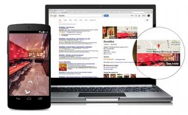 La visite virtuelle dans les résultats de recherche de Google