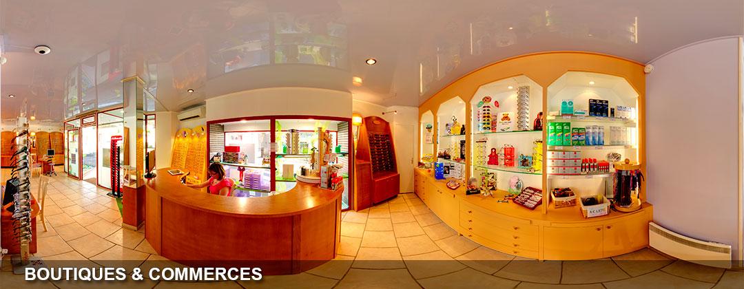 la visite virtuelle d'une boutique