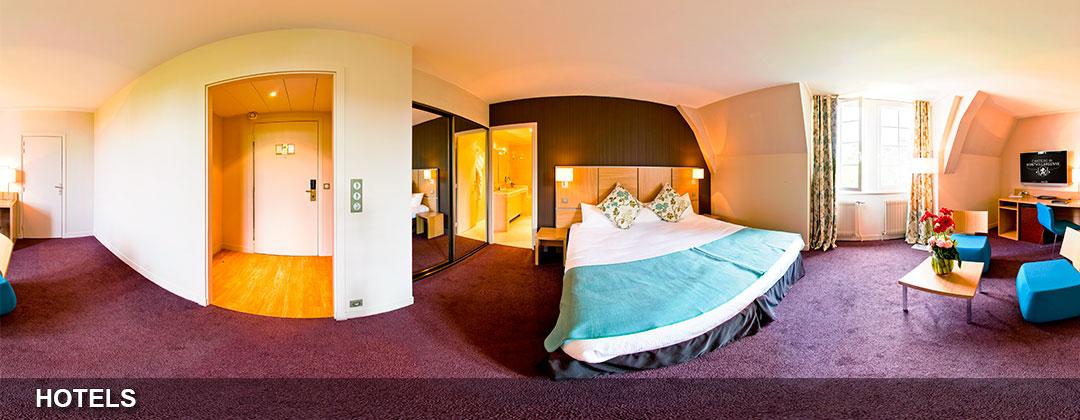 la visite virtuelle d'une chambre d'hotel