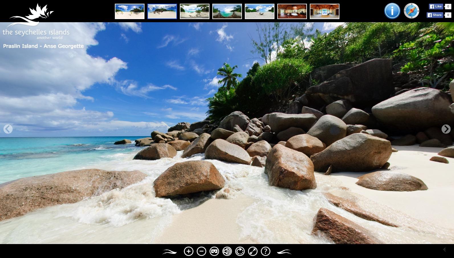 La visite virtuelle des iles seychelles